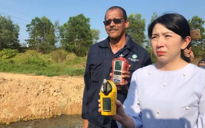 Gas Detector being used for Pasir Gudang Illegal Toxic Dumping